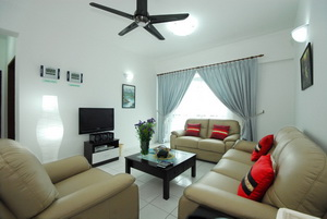 RentNow.My Serviced Apartment Living Room